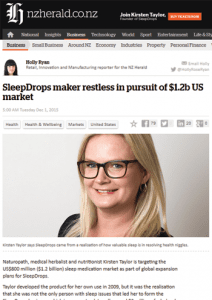 SleepDrops pursuit US market