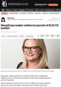 SleepDrops pursuit US market