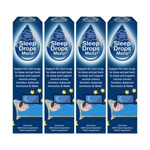 SleepDrops for Men 25ml Sleep Remedy NZ Natural Spray Combo 4 Pack