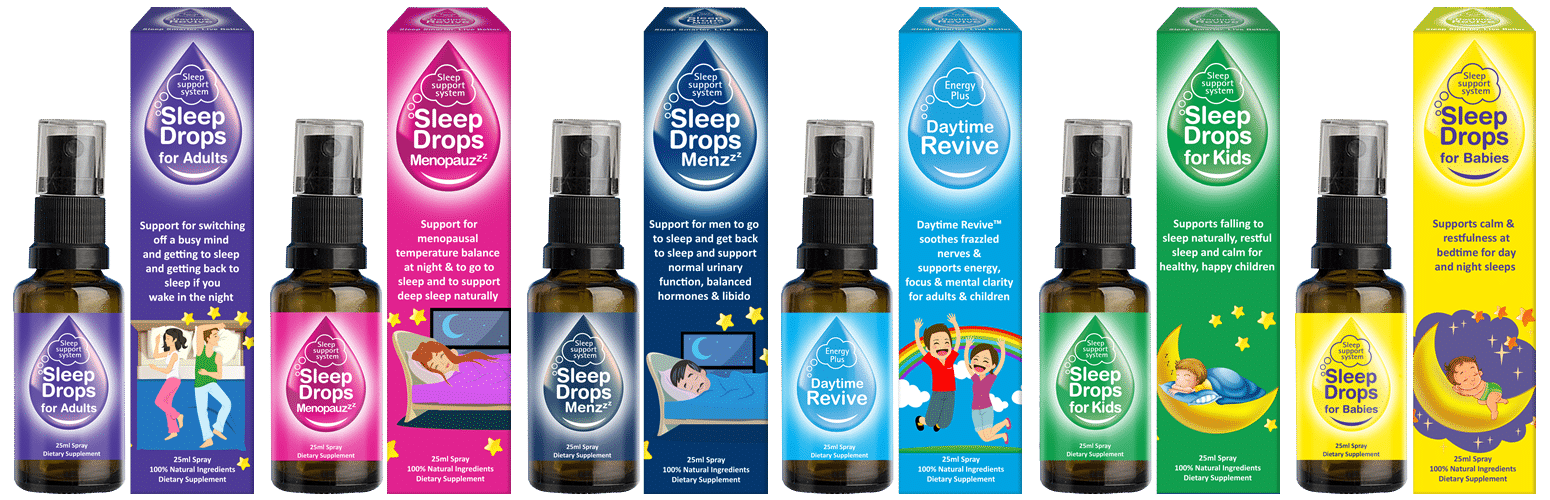 SleepDrops supermarket spray range