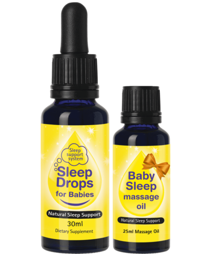 Sleep Drops for Babies and Organic Massage Oil