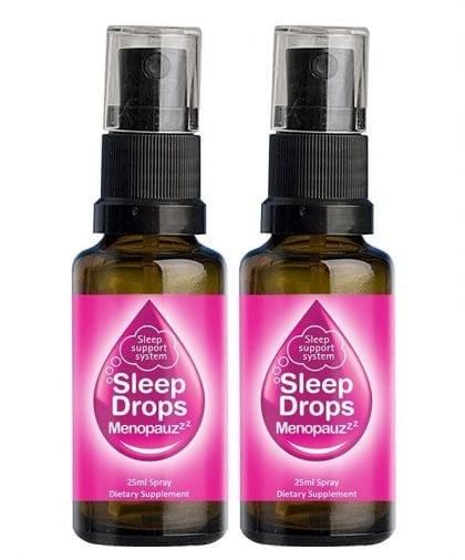 SleepDrops for Menopause and Perimenopause 25ml Sleep Remedy NZ Spray Combo 2