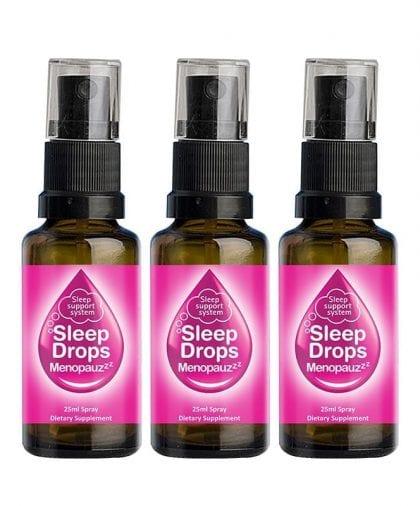SleepDrops for Menopause and Perimenopause 25ml Sleep Remedy NZ Spray Combo 3