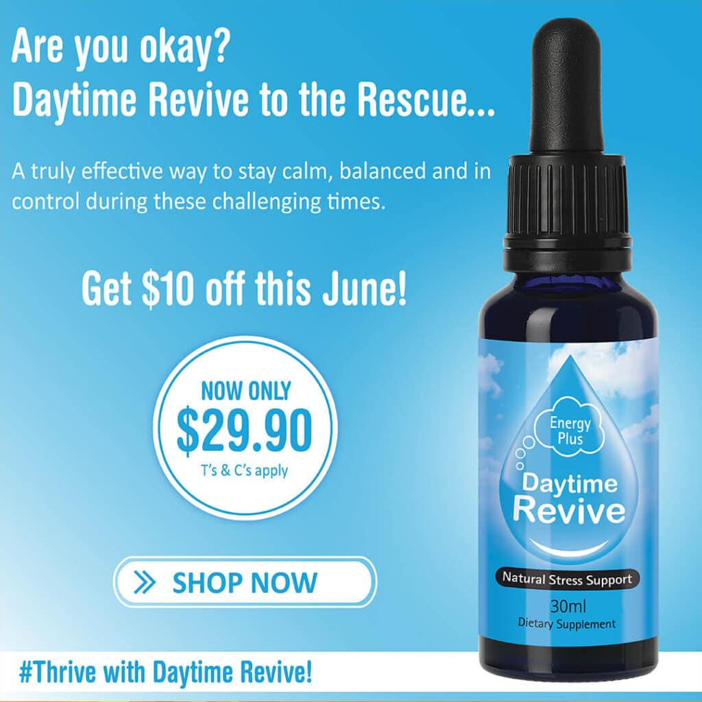 SleepDrops Daytime Revive 30ml Natural Stress Support Rescue NZ Remedy June Special Offer
