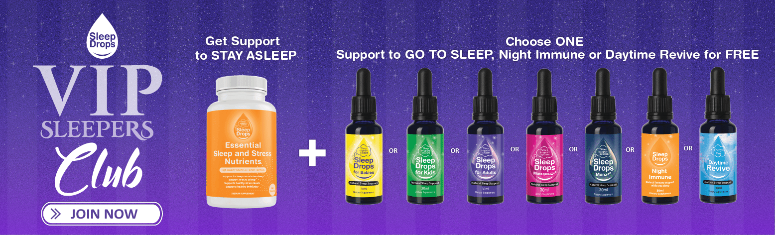 SleepDrops VIP Sleepers Club Natural Remedy Homeopathic Assistant for sleep wellness and stress